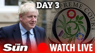 WATCH LIVE: UK Supreme Court hears challenge on parliament's suspension - DAY 3