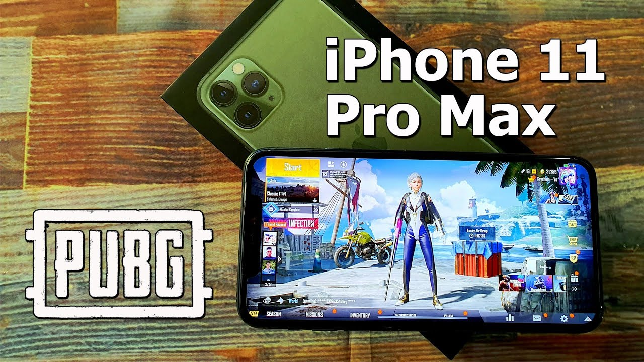 PUBG Mobile on iPhone 11 Pro Max Gaming Test (Midnight Green)