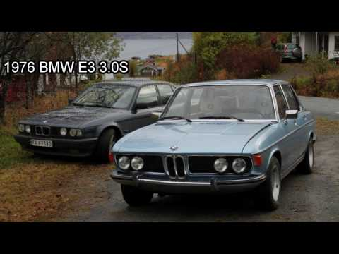 1976 BMW E3 3.0S - Engine revs & exhaust sound