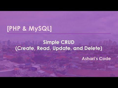 [PHP & MySQL] CRUD Sederhana