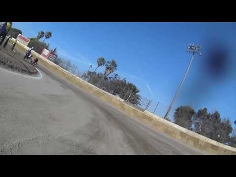 Ventura Raceway • Flat Track • Pit Bike 100-150 • Heat + Main & Crash
