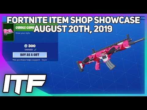 Fortnite Item Shop *NEW* CUDDLE CAMO WRAP! [August 20th, 2019] (Fortnite Battle Royale)