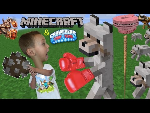 Thumbnail: 3 Yr Old Chase plays Minecraft! He Fights A Wolf, Crashes Pigs, Jumps to Trap Team & Doesn't Say Bye