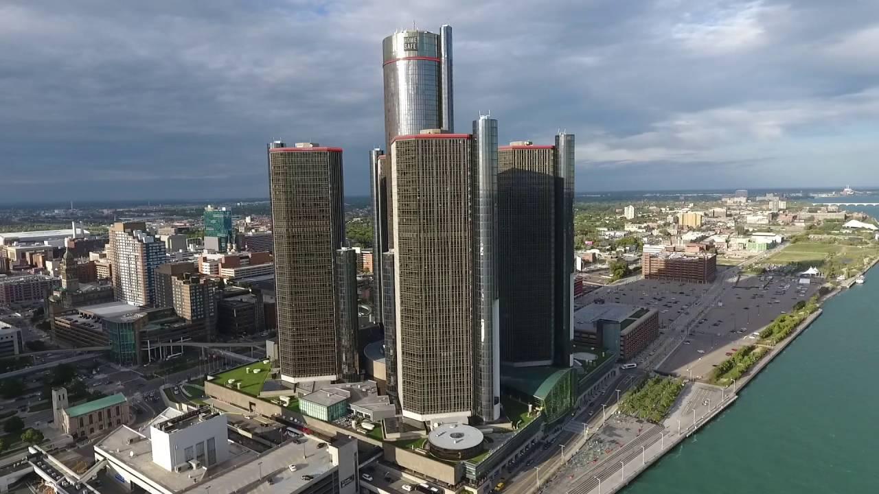Detroit Renaissance Center Quick Drone Run