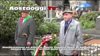 Aosta 25 Aprile 2015 manifestazione in Piazza Chanoux Festa della Liberazione