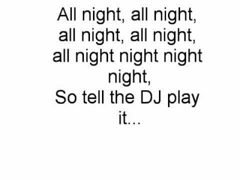 All Night Long Alexandra Burke ft PitBull Lyrics