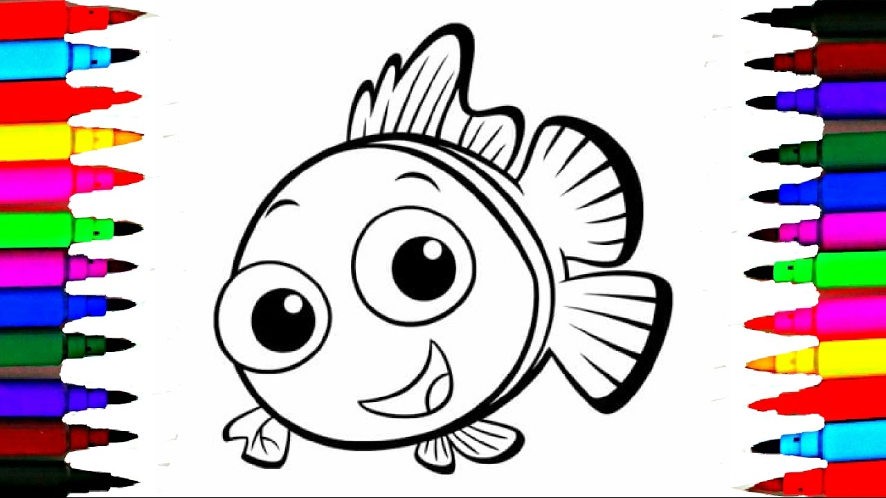 coloring pages little fish l ocean creatures drawing to color for