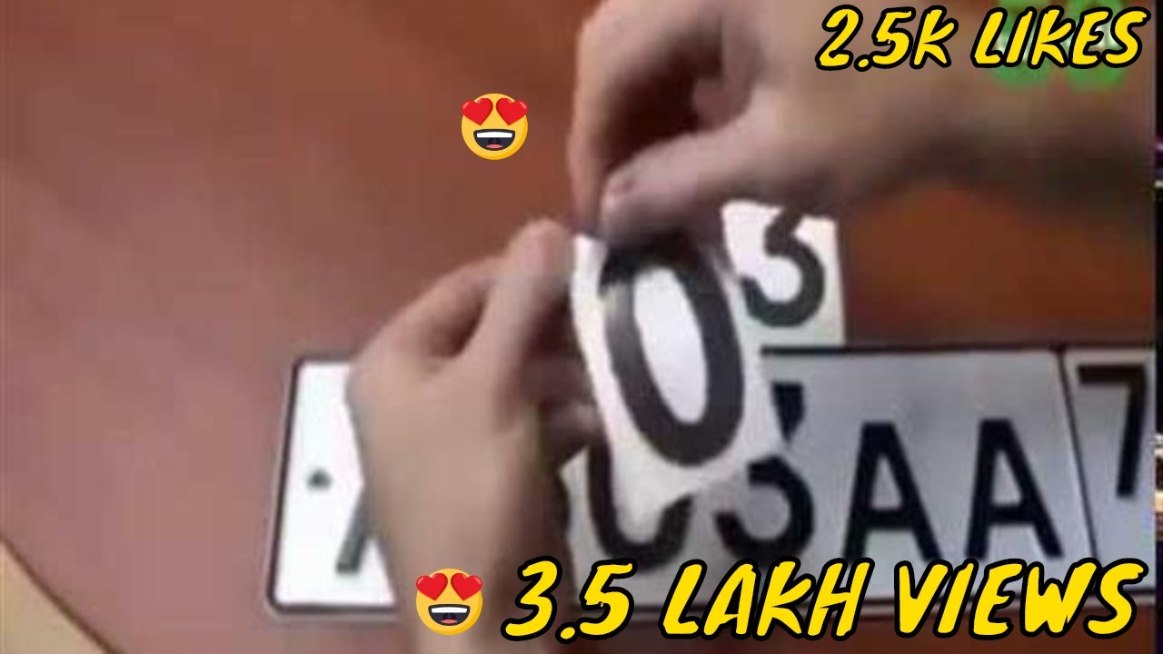 HOW TO MAKE YOUR NUMBER PLATE INVISIBLE IN CAMERA - YouTube