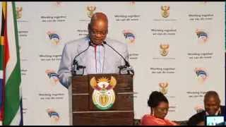 President Jacob Zuma addresses the Presidential Youth Indaba