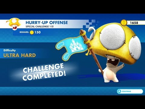 Mario + Rabbids Kingdom Battle | Special Challenge 1-S1 Hurry-Up Offense