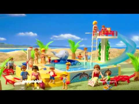 Playmobil le camping fran ais youtube for Piscine play mobile