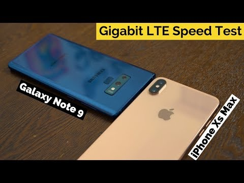iPhone Xs Max vs Galaxy Note 9: Gigabit LTE Speed Test!