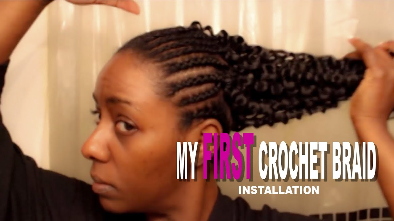 My First Crochet Braid Install On Natural Hair Shakengo