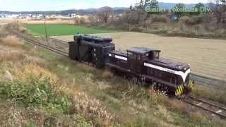 津軽鉄道 深郷田ー大沢内 DD35+キ100