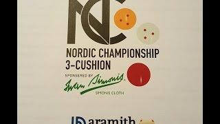 3 Cushion Nordic Open 2015 SemiFinale Lars Dunch Dk Brian Zola Hansen Dk