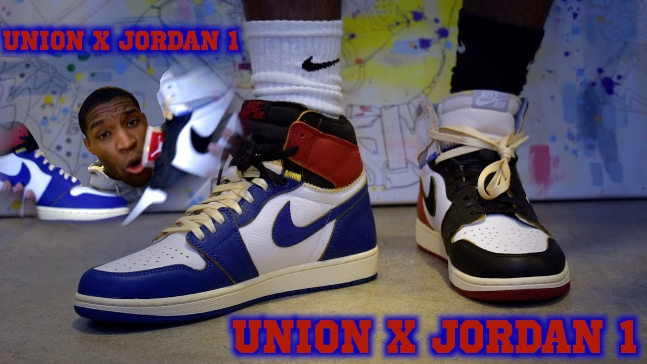 4c920125f7aa Union X Air Jordan 1 Los Angeles Blue and Black Toe Comparison - YouTube