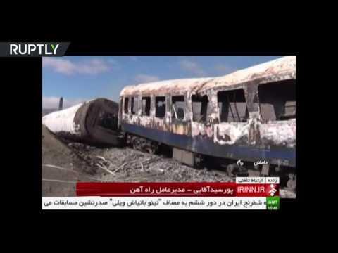 44 killed, 103 injured in horrifying train collision near Tehran