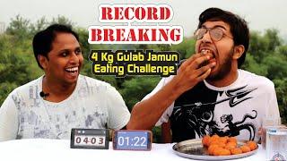 Can we break Vinay's Record   Gulab Jamun Eating Challenge   Food Challenge