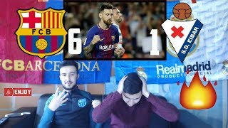 RONALDO FAN REACTS TO MESSI 4 GOALS 😱🔥BARÇA 6-1 EIBAR - HIGHLIGHTS REACTION