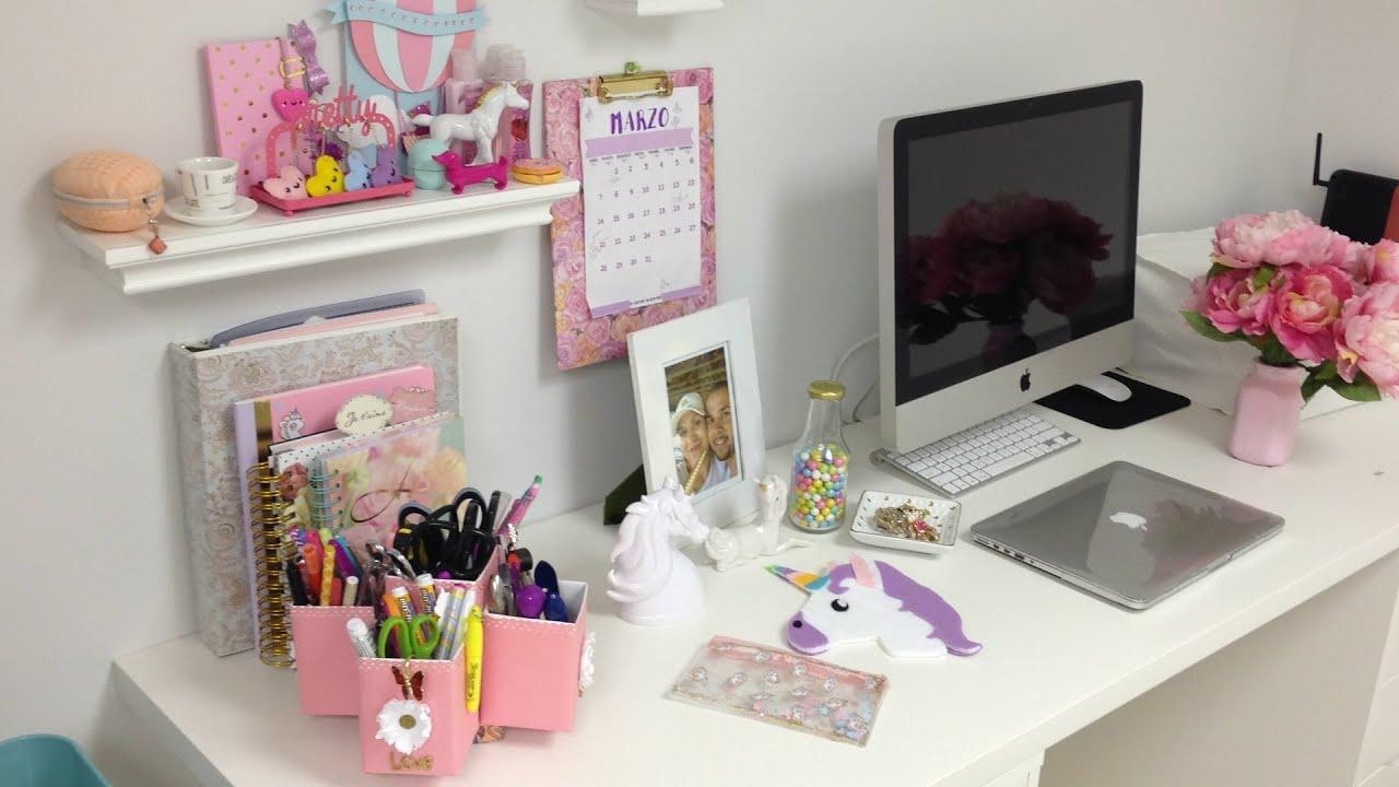 Tour por mi area de trabajo youtube for Como decorar mi escritorio de trabajo