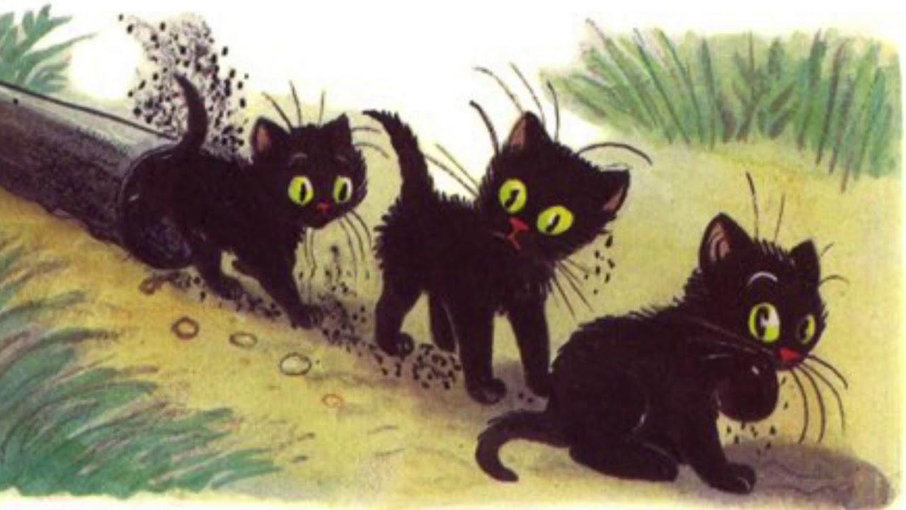картинки к сказке три котенка сутеев распечатать кокер спаниель