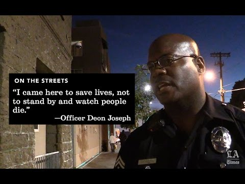 Join an LA officer on a Friday night patrol inside Skid Row