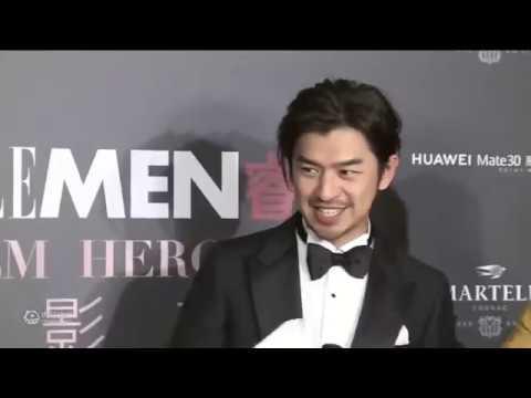 2019.11.14 北京   ELLEMEN 電影英雄盛典 - 陳柏霖 紅毯及訪問 - YouTube