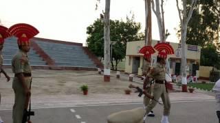 India Pakistan Fazilka Border  Retreat Ceremony