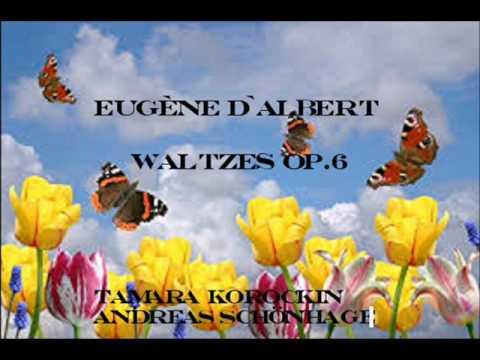 Eugen d' Albert Waltzes Op.6 für Klavier vierhändig