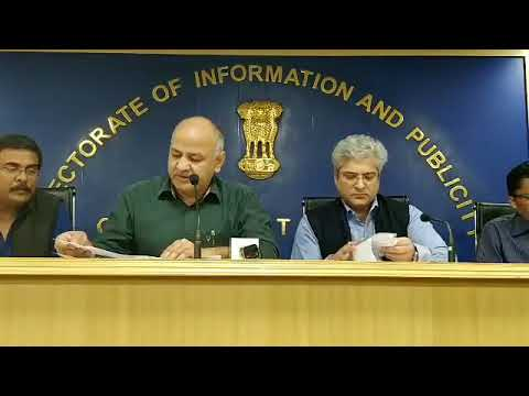 Dy CM Manish Sisodia's Press Conference on Door Step Delivery Of Public Services.