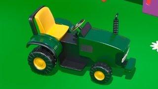 Развивающие мультики про машинки - ТРАКТОР на детской площадке . Цифра  6