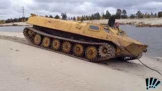 МТ ЛБ Плавает!multi purpose tractor light armored floats