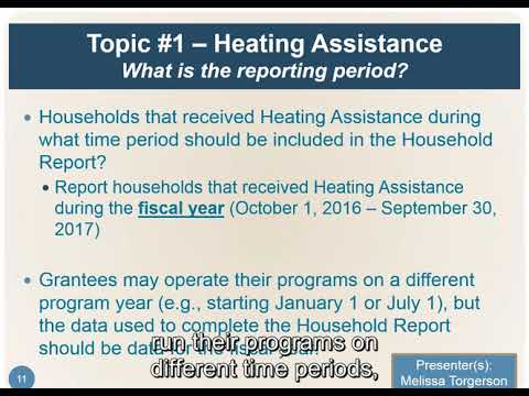LIHEAP webinar on Step-by-Step Overview of the FY 2017 Household Report
