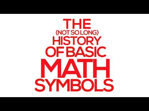 History of Math Symbols