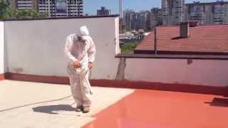 Гидроизоляция (ремонт) террасы поверх плитки жидкой резиной(, 2015-06-12T19:54:23.000Z)
