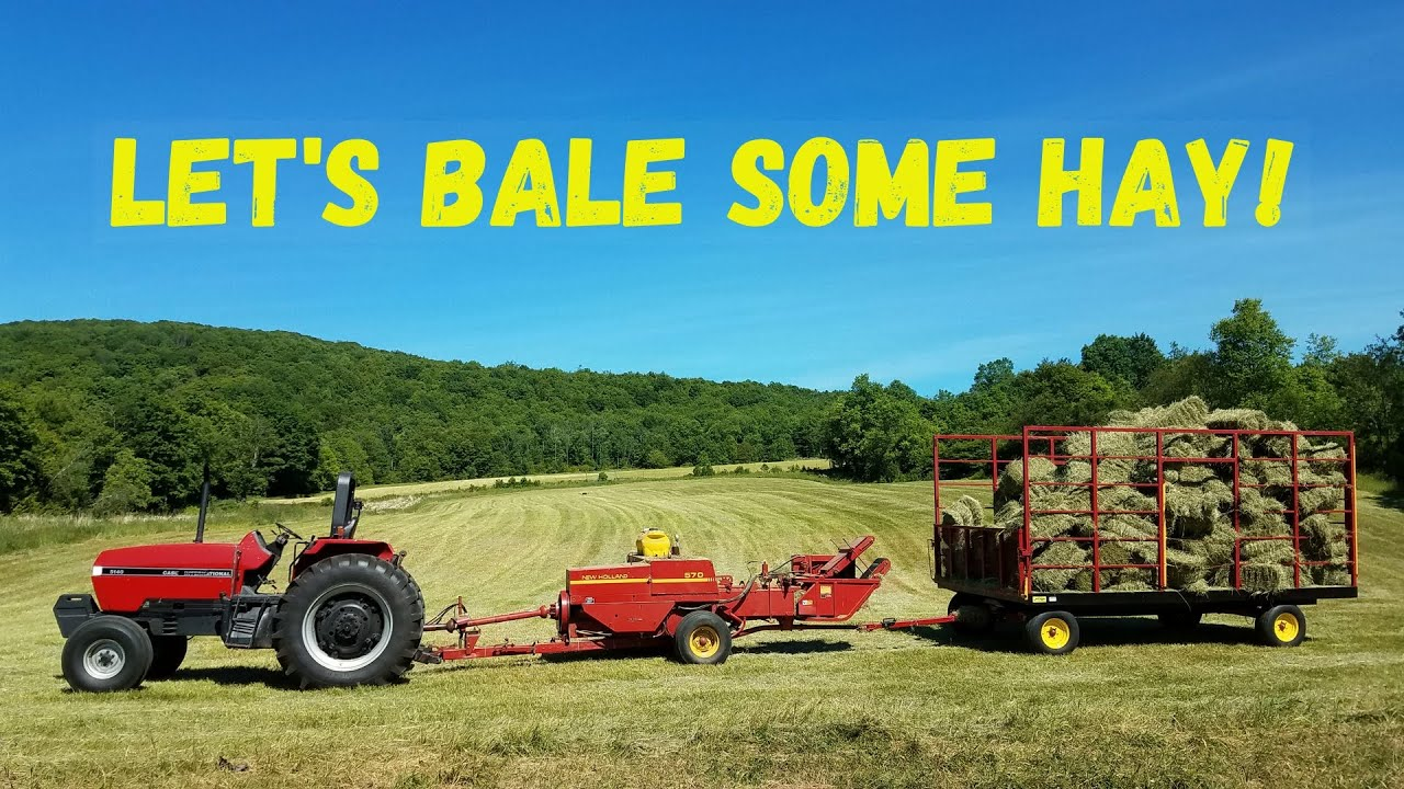 Baling Small Squares in Northeast PA!!