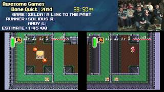 Legend of Zelda: A Link to The Past :: RACE Live [SNES] Andy VS Solidus #AGDQ 2014