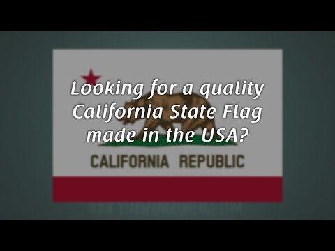 California State Flag made in USA