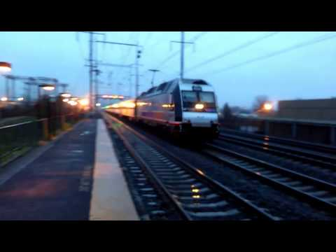 Morning Rush Hour at Jersey Avenue Park and Ride Station.