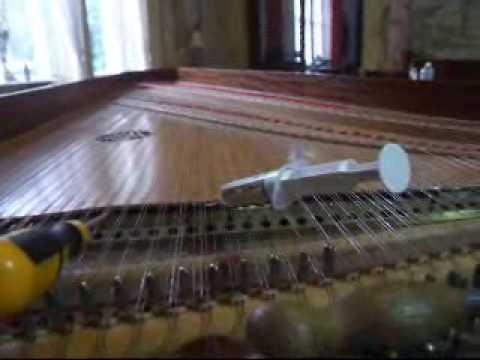 Phase 4 Clayson and Garrett Harpsichord Repair - YouTube