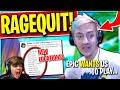 Ninja RageQuits Immediately.. Pros Upset WITH New Update