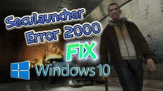 Seculauncher Failed To Start Application 2000 Windows 10 | Seculauncher | GTA IV