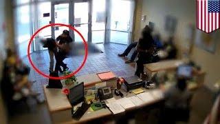Kolejny policjant rzuca uczniem o ziemię - nagranie