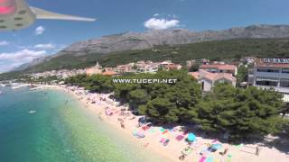 3.7.2014. - Tučepi beaches - aerial survey