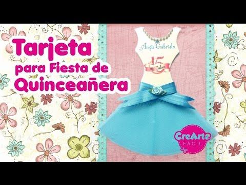 Tarjeta Vestido Quinceañera Recordatorio O Invitación Fiesta De Quince Años Diy