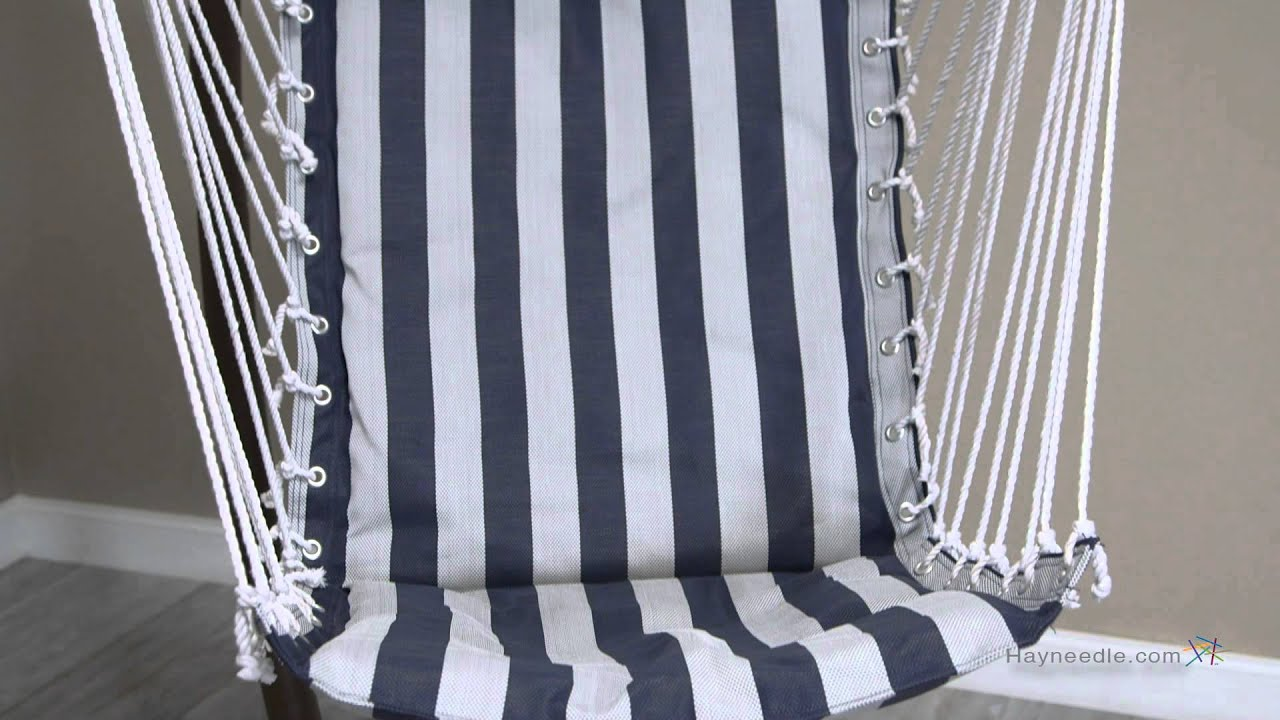 hammock chair stand white parisian cafe chairs island bay navy and stripe padded sling