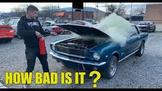 I BOUGHT A BURNED 1966 Ford Mustang From The Salvage Auction To Rebuild