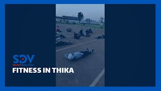 56 people in Thika Town form fitness club in a bid to improve their immunity against COVID-19
