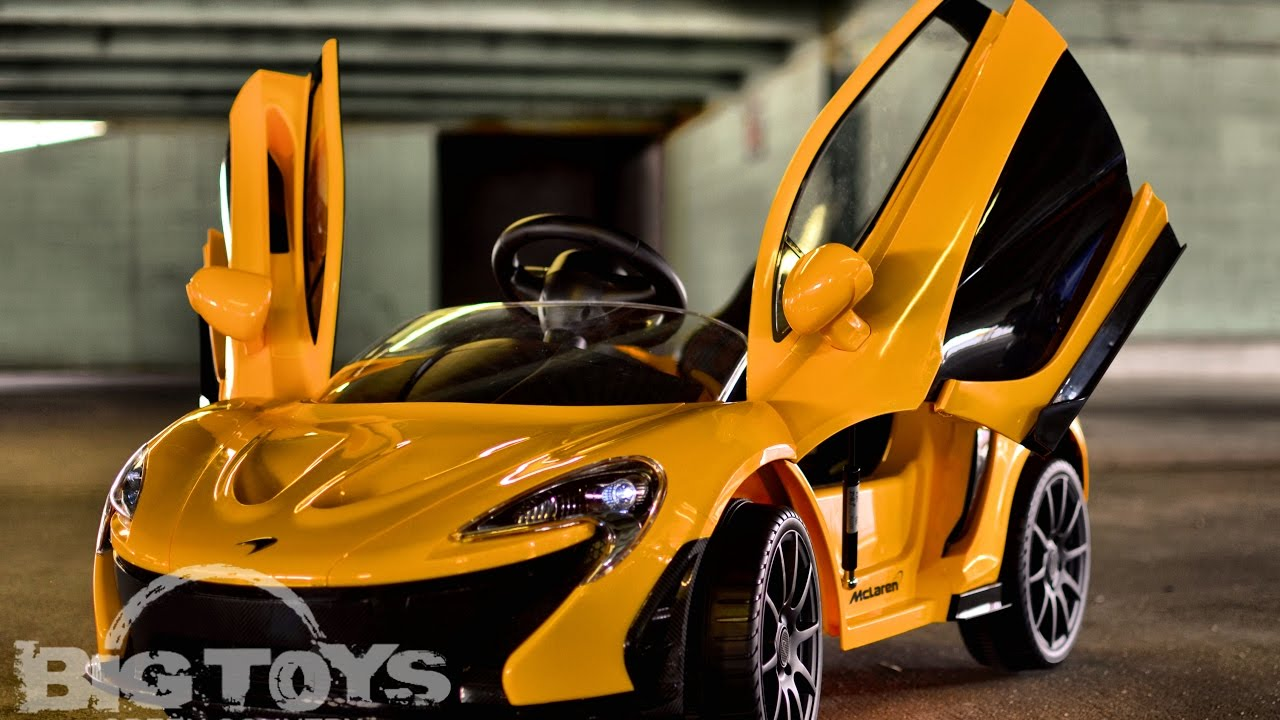 Mclaren Toddler Ride On Super Car 12v With Lambo Doors Big Toys Green Country Youtube
