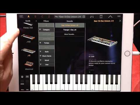 SYNTRONIK by IK Multimedia The FREE Version Demo & Tutorial for the iPad